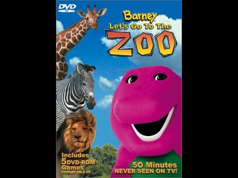 opening to barney lets go to the zoo 2003 dvd youtube