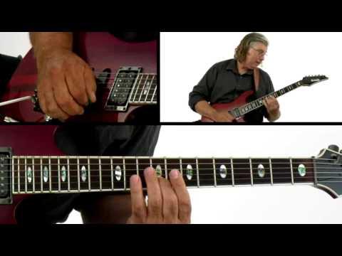 Improv Guitar Lesson - #42 Am Funky Jazzy - Jon Finn
