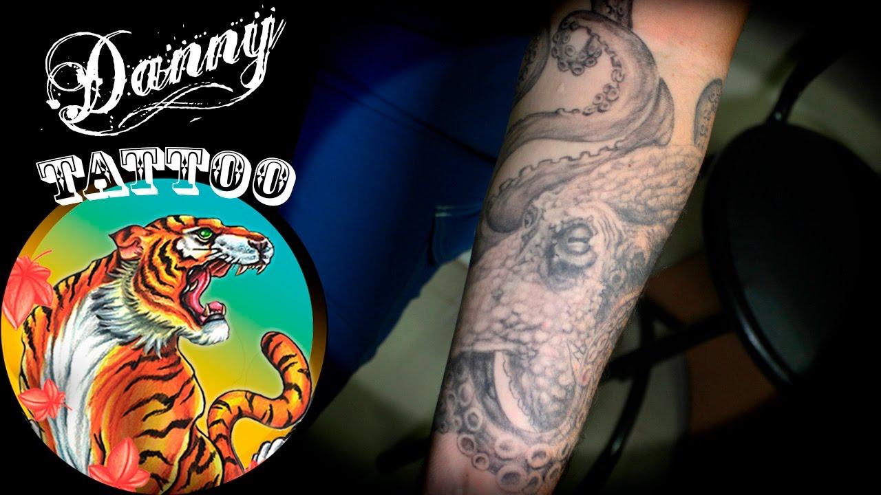 855afa158b58a Polvo antebraço - Danny Tattoo (Forearm Octopus) Timelapse - YouTube