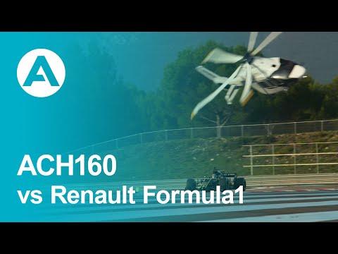 Airbus ACH160 vs Renault Formula1 at Le Castellet