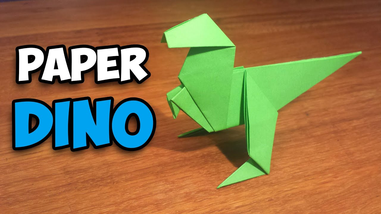 How To Make an Easy Origami Dinosaur - YouTube - photo#9