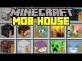 Minecraft MOB HOUSE MOD! | BUILD AND SURVIVE IN CUSTOM MOB HOUSES! | Modded Mini-Game