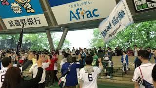 5/13 西武ライオンズ 勝利の二次会にて仮面女子 猪狩ともかさんへのエール