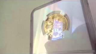 フランス 1641年ルイ13世ルイドール金貨1641 A MS63 NGCショートカールヘアー