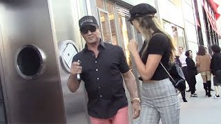 Sylvester Stallone And Daughter Sistine Christmas Shop At Chanel