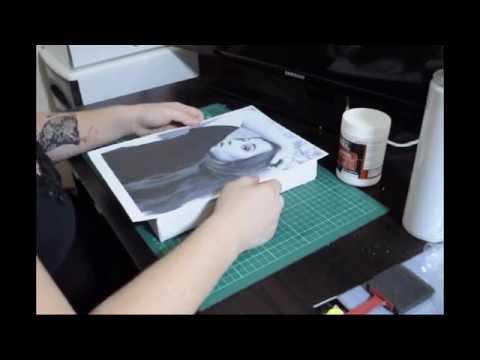 DIY canvas photo transfer using gel medium