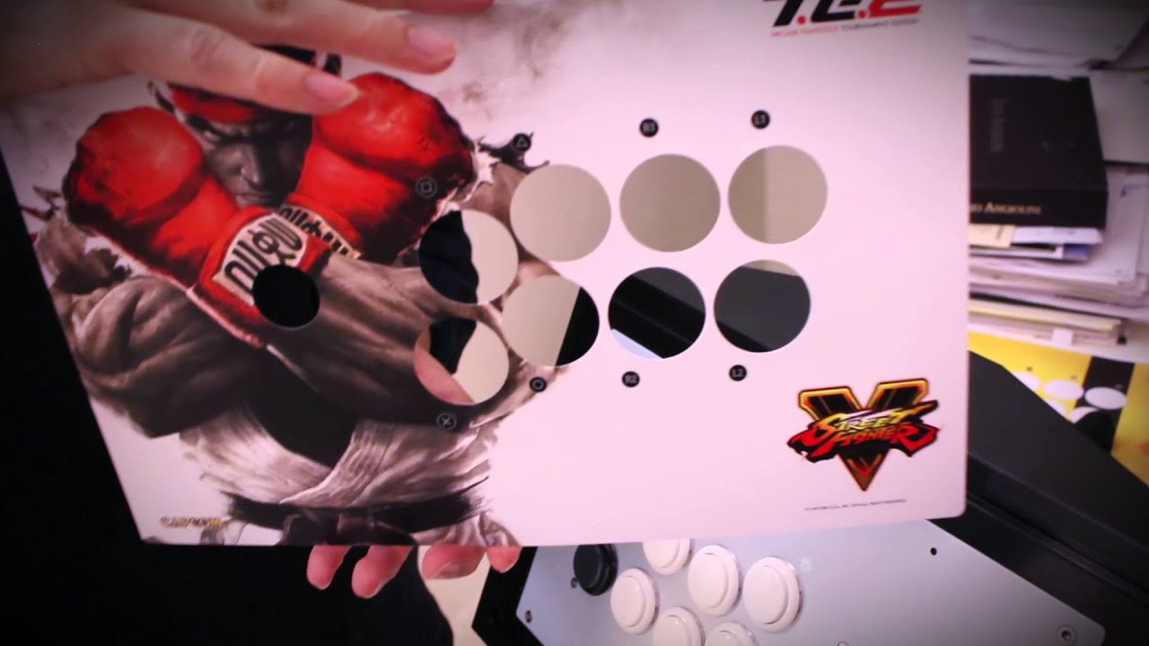 mad catz te2 fightstick how to change artwork tutorial youtube