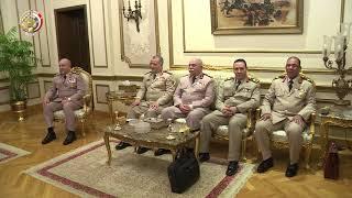 بالفيديو| وزير الدفاع يستقبل نظيره السوادني