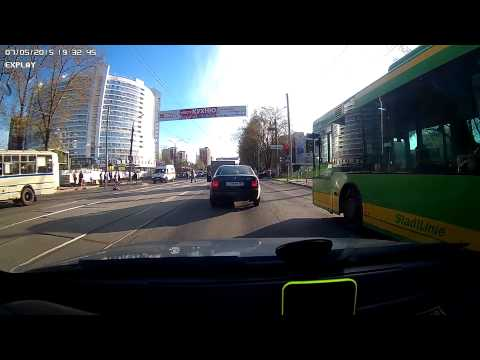 Пермь.  ул.  Мира.  Автобус сбил пешехода