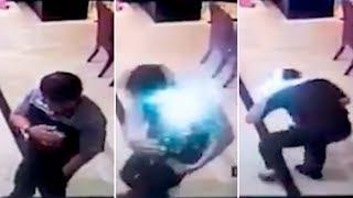Un celular explota en el bolsillo de un hombre y provoca heridas en su rostro