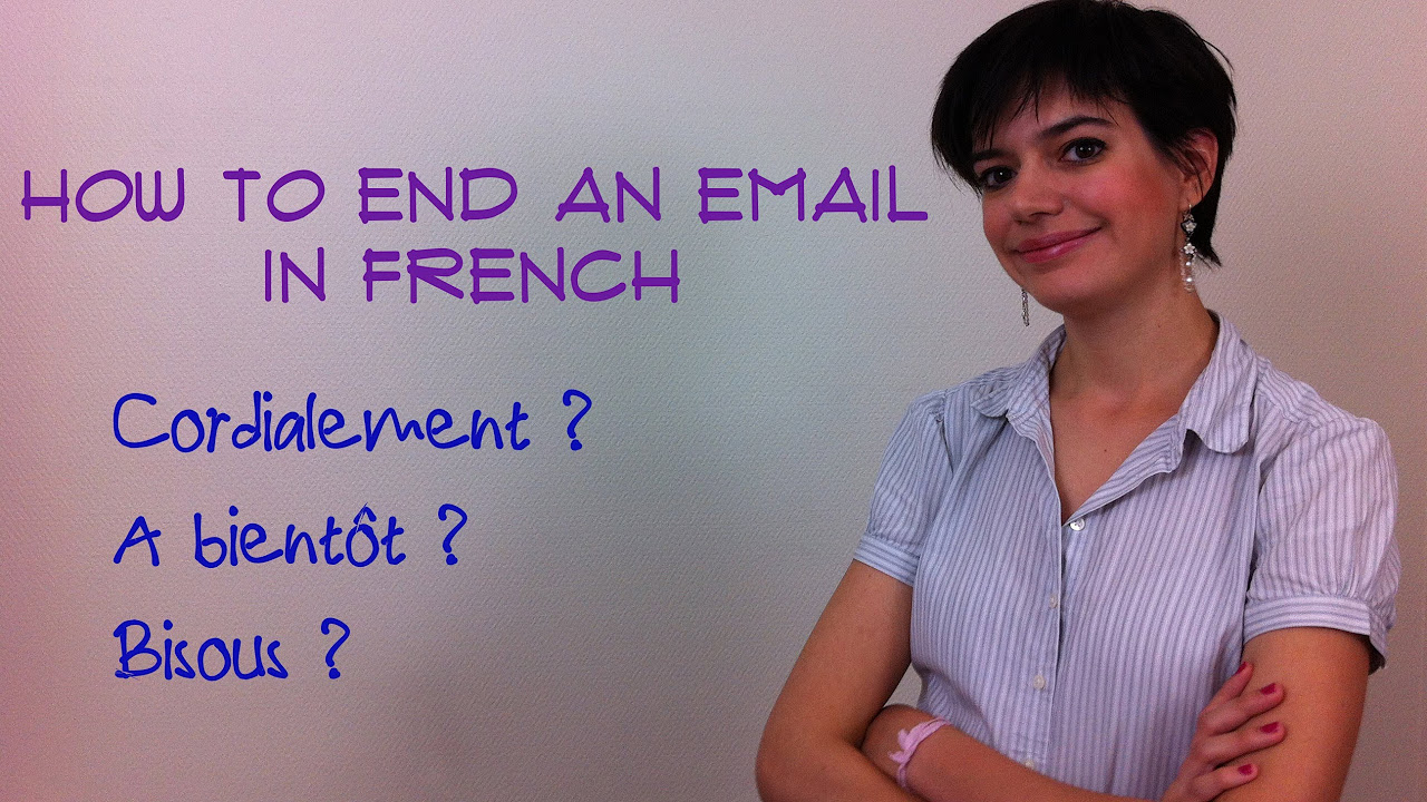 how to end letter in french