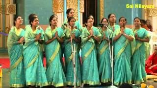 Prasanthi Vidwan Mahasabha – Day 5  Veda chanting by Sai Students