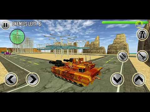 Tank Robot War Game: Jet Robot Transform Battle  - Android Gameplay FullHD