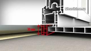 Правильный замер стандартного ПВХ окна Учебный видео фильм урок ролик инструкция по монтажу