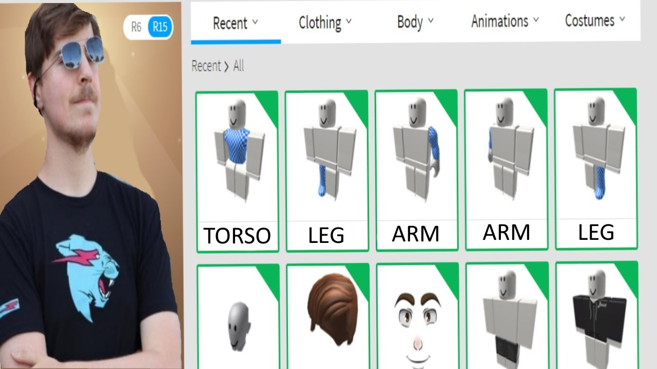 Making Mrbeast A Roblox Account Youtube