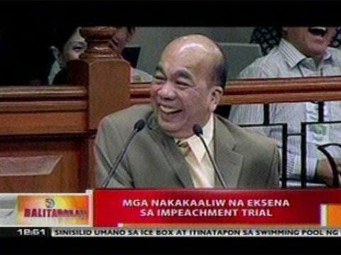 BT: Mga nakakaaliw na eksena sa   impeachment trial
