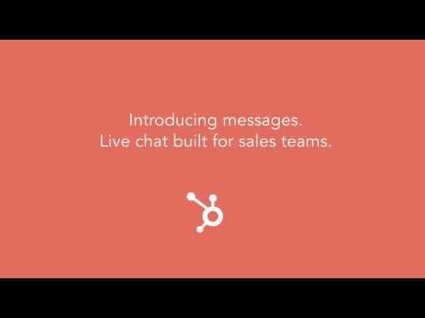 HubSpot Sales | Introducing Messages Live Chat Tool