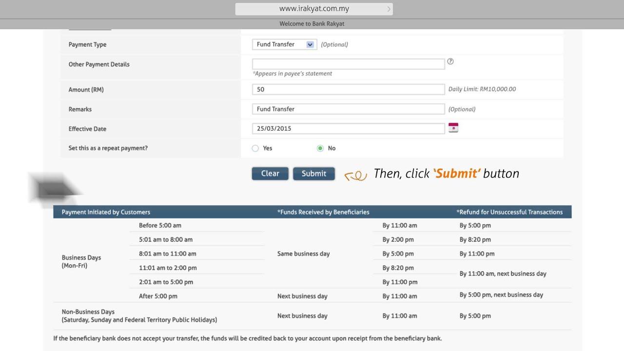 Bank Rakyat I Rakyat Fund Transfer To Other Bank Youtube