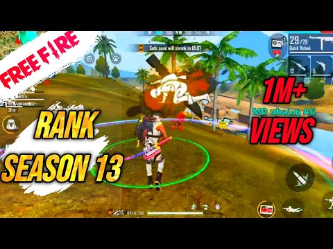 Season 13 Free Fire First Squad Ranked Game Play In Ff Live Gaitonde Youtube