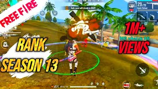 Season 13 FREE FIRE FIRST SQUAD RANKED GAME PLAY IN FF LIVE - GAITONDE