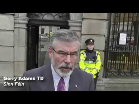 Gerry Adams meets family of Brian Stack