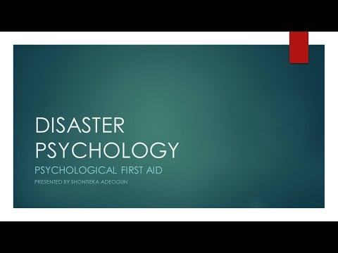 Emergency Management - Disaster Psychology