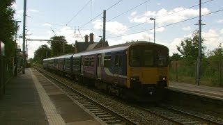 Half an Hour at (43) - Newton le Willows Station 29.6.2014 - Earlestown Class 150 156 175 185