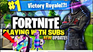 *Fortnite BATTLE ROYALE *New Update 10 wins grind* omg new Bright bag Secret new shotgun