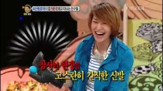 120426 Onew laughed hysterically when a woman drove (CUT)