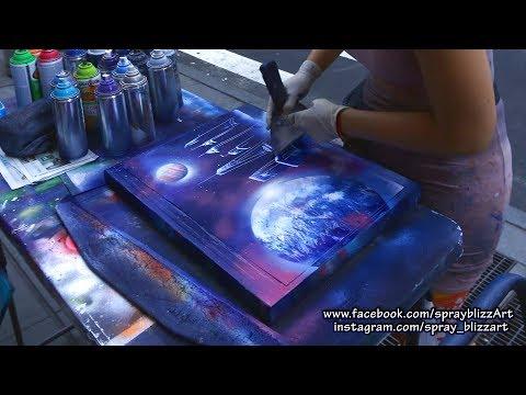 Spray painting art in New York