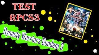 RPCS3 Test game Dynasty Warriors Gundam 3