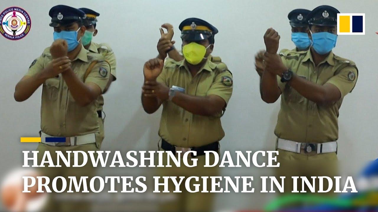 Coronavirus Indian Police Perform Handwashing Dance To Remind