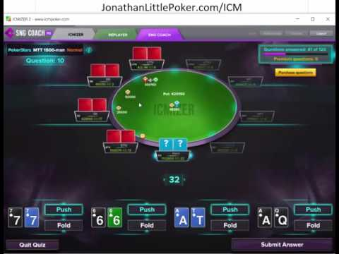 Jonathan Little practices poker with ICMizer's SNG Quiz 2