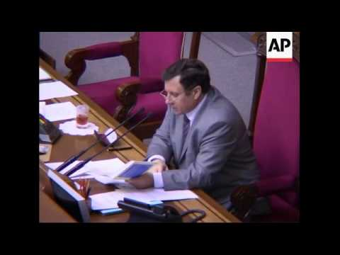 Ukrainian lawmakers pass bills for early parliamentary elections