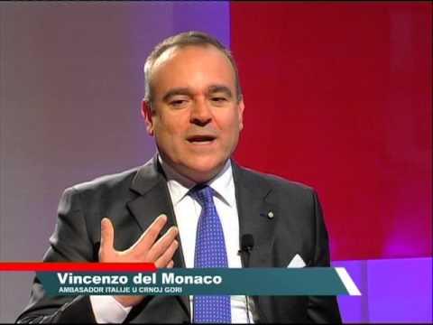 Vincenzo Del Monaco, italian ambassador in Montenegro, Atlas TV