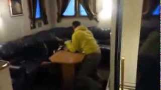 Big Ocean Waves vs  Men in Boat Living Room