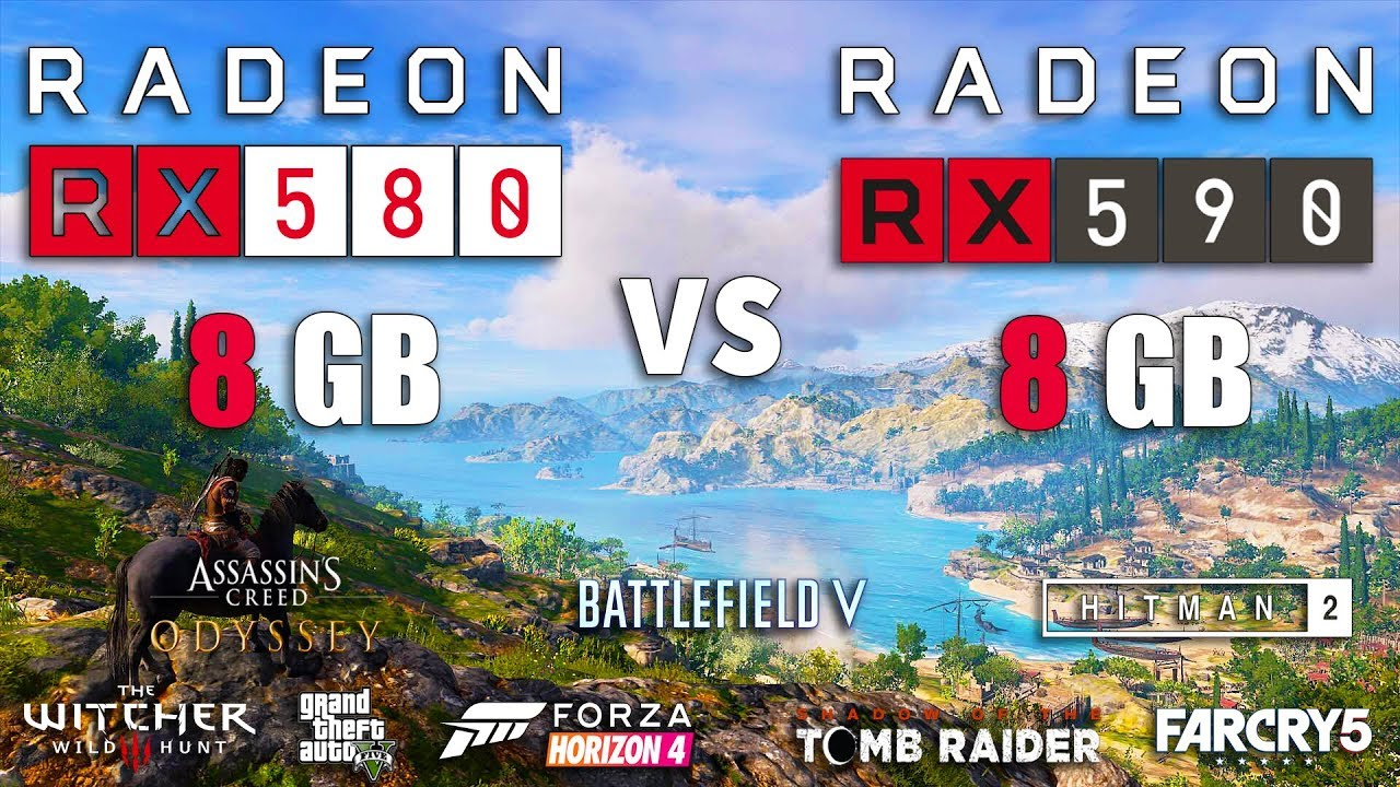 RX 590 vs RX 580 Test in 8 Games