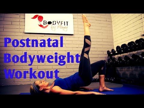 25 Minute Post Natal Bodyweight Workout--No Equipment Needed