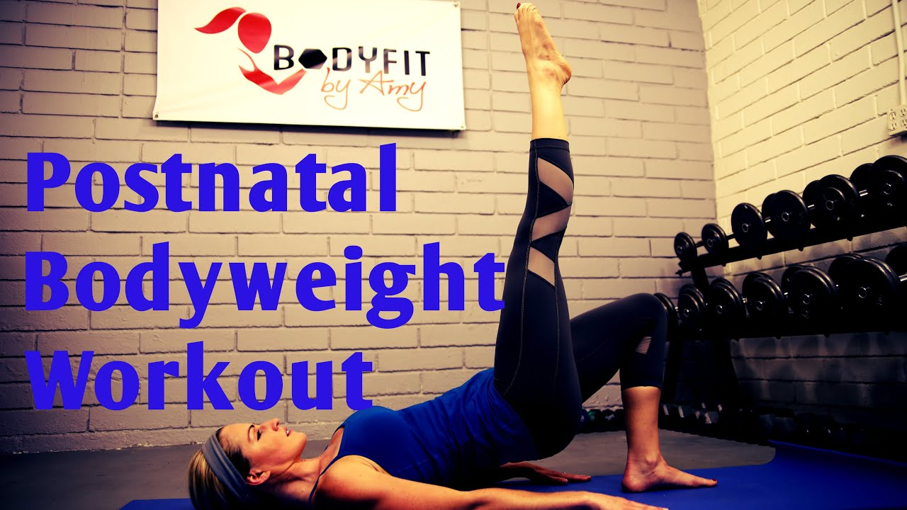 25 Minute Postnatal Bodyweight Workout No Equipment Needed Youtube
