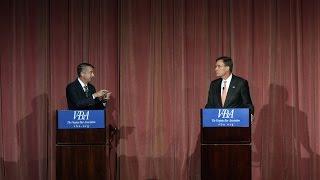 Repeat youtube video Watch Mark Warner, Ed Gillespie meet for first Virginia Senate debate