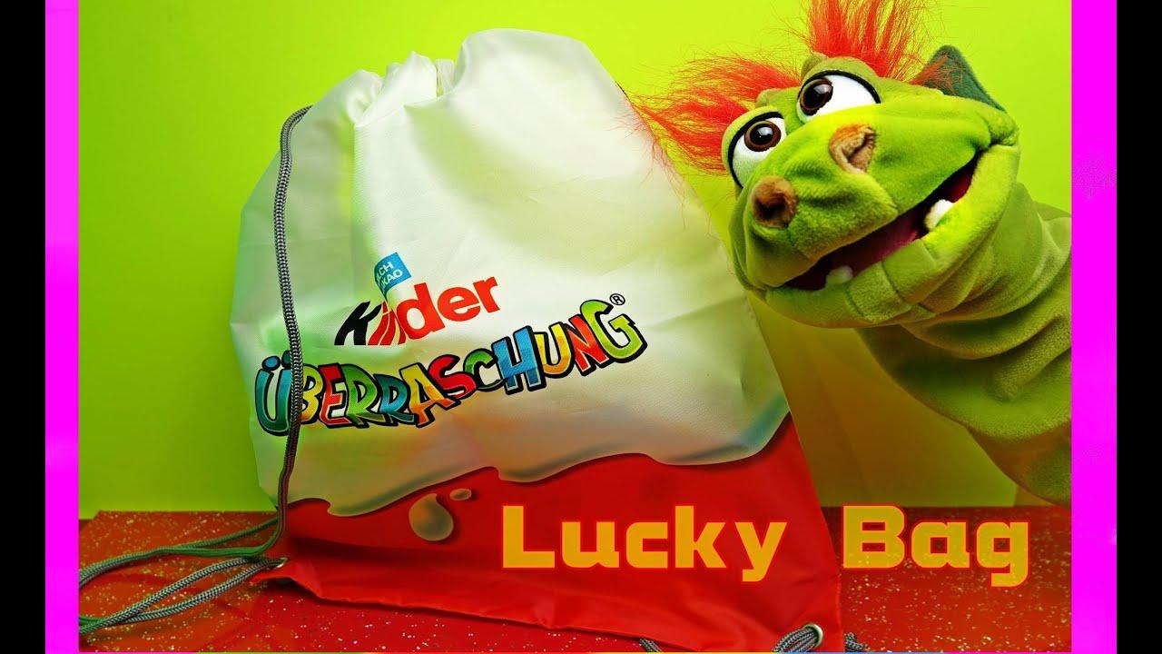 Kinder überraschung Sammelaktion Surprise Sportbag Original Ferrero Lucky Bag Living Puppets Gregor