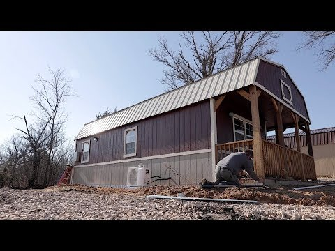 Moving into a TINY HOUSE SHED - Ep. 1
