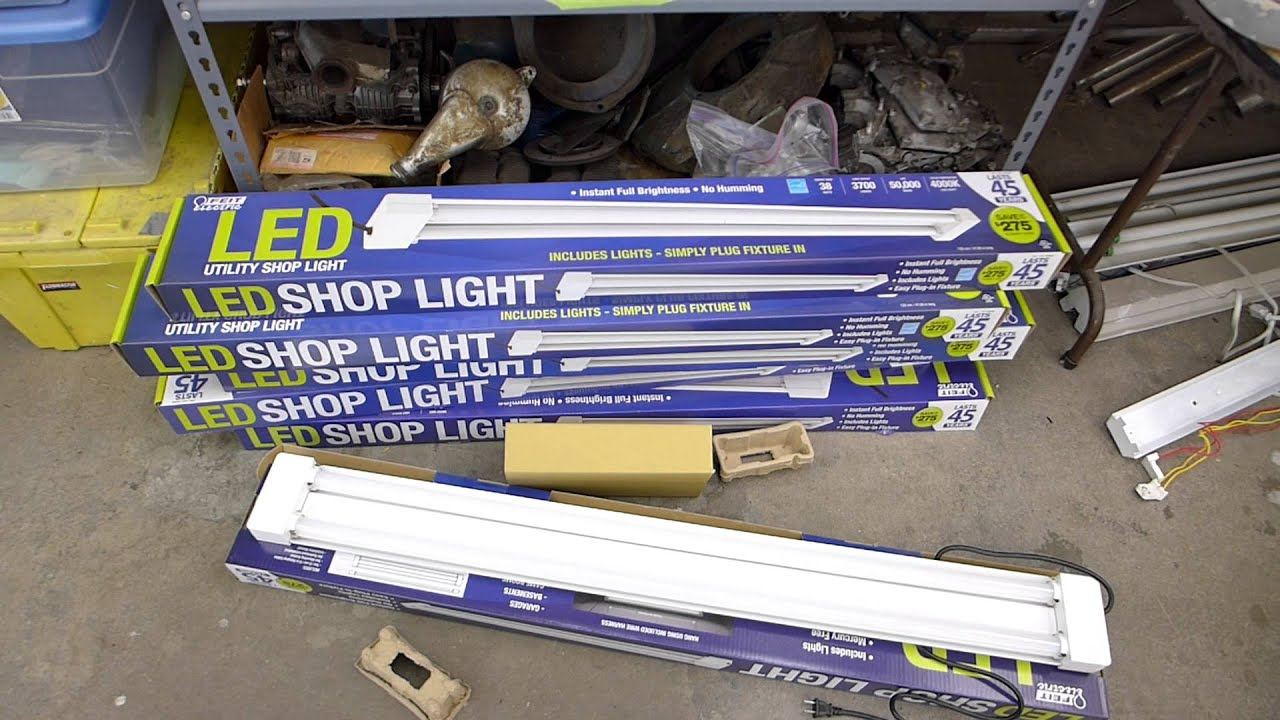 led shop light upgrade for general workspace paint and inspection booth