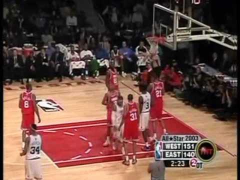 Allen Iverson & Michael Jordan 2003 NBA All Star Highlight