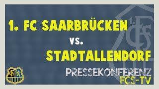 Eintracht Stadtallendorf - 1. FC Saarbrücken - Pressekonferenz nach dem Spiel (31. Spieltag)
