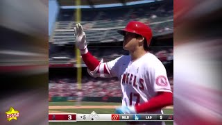 Shohei Ohtani ties for the MLB home-run lead with No. 23 on the year, and fourth in three games