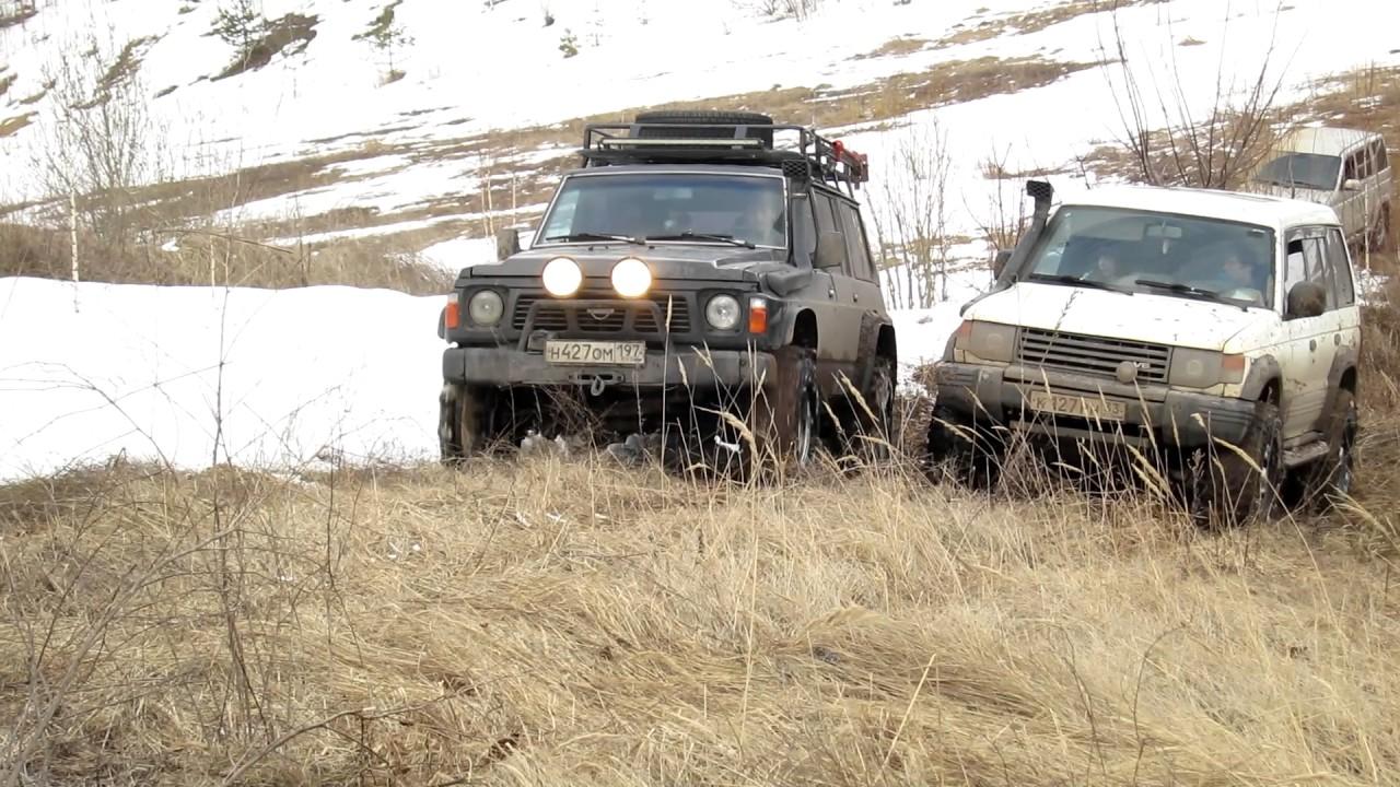 Patrol Y60, Pajero II, УАЗ Патриот - мартовский оффроад | покатушки | восхождение | offroad