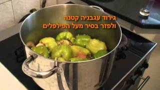 קלרה מכינה פלפל ממולא, Klara Make Peppers Stuffed With Meat And Rice