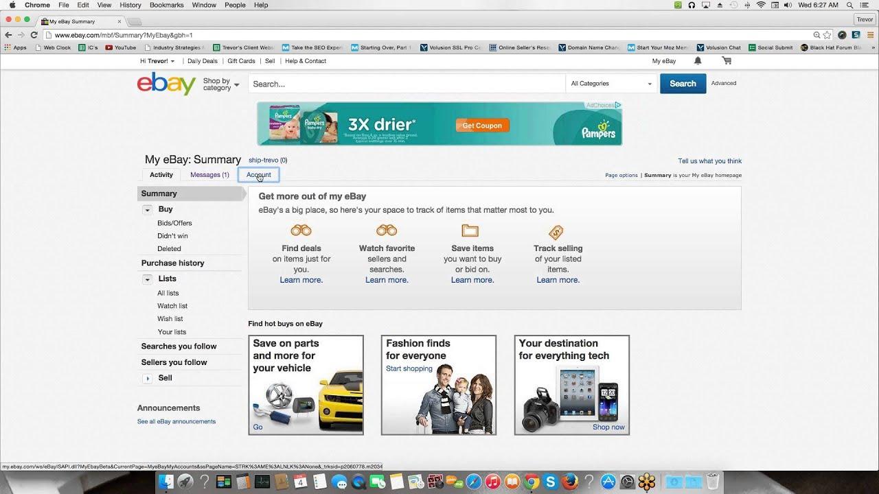 how to delete an ebay accpunt