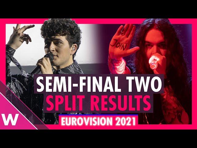 Eurovision 2021: Semi-Final 2 Split Results (REACTION)